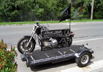 Harley hearse provided by last ride funerals