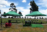 Tent provided by William Matthew funerals for open air funeral services