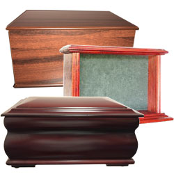Beautiful timber cremation urns using many different types of stunning timber in different colours.